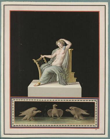 Figure allégorique de la Poésie ou de la Musique