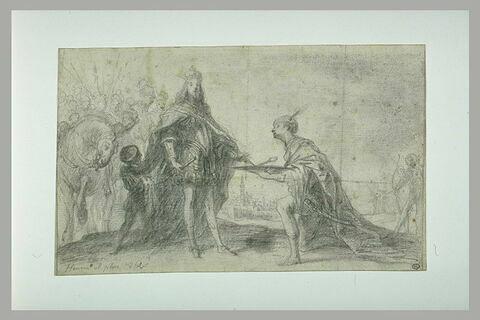 Reddition de Séville devant Ferdinand III, roi de Castille et de Leon