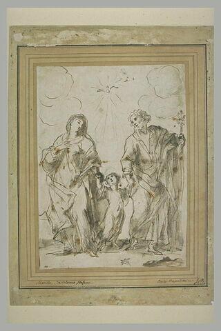 L'Enfant Jésus entre la Vierge et saint Joseph