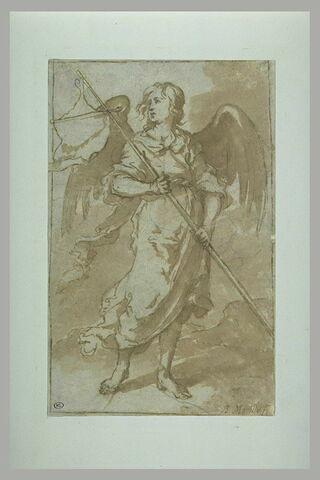 Ange tenant une bannière