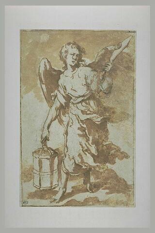Ange tenant la lanterne et le sabre qui servi à couper l'oreille de Malchus