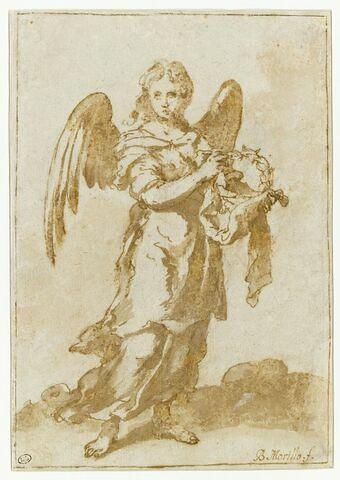 Ange tenant la couronne d'épines