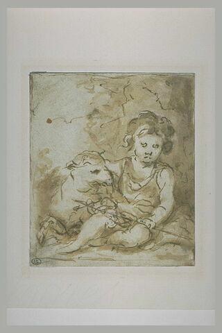 Saint Jean-Baptiste avec un agneau