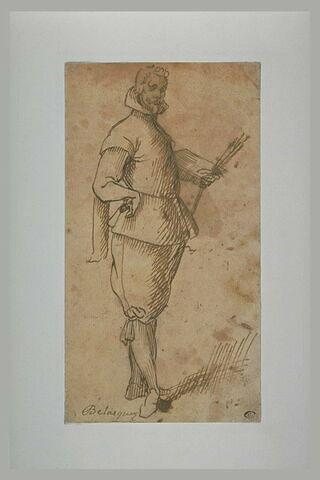 Portrait de peintre en pied