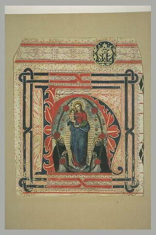 Notre-Dame du Rosaire avec saint Dominique de Guzmán et saint Vincent Ferrier