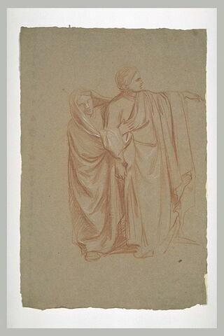 Deux figures drapées
