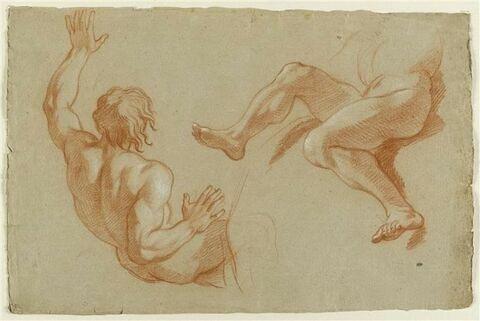 Deux hommes nus, renversés