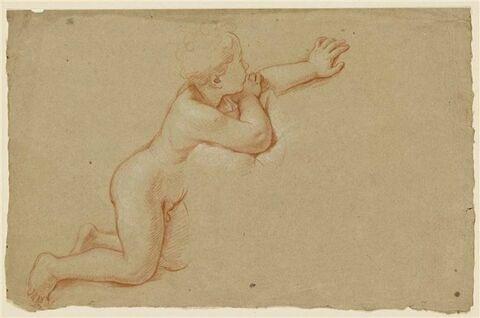 Enfant nu, de profil