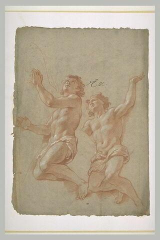 Deux hommes demi-nus
