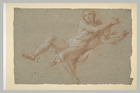 Femme nue, à demi-assise
