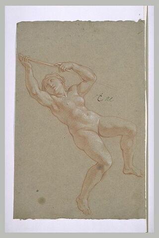 Femme nue, volant dans les airs