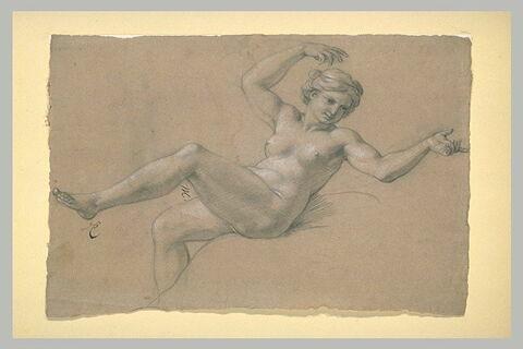 Femme nue, à demi-renversée