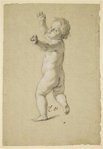 Enfant nu, debout