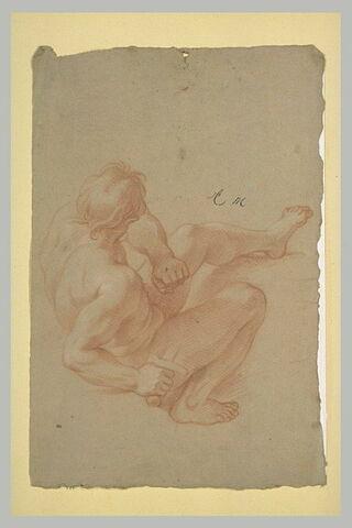 Homme nu, renversé à terre