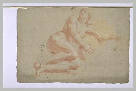 Femme nue, à demi-couchée