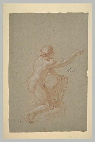 Femme nue, à genoux