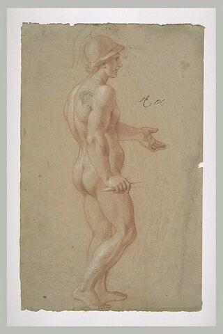 Femme nue, casquée