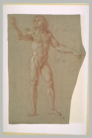 Homme nu, debout : Louis XIV