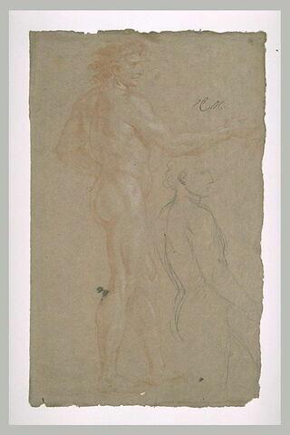 Etudes d'homme nu, debout, de profil