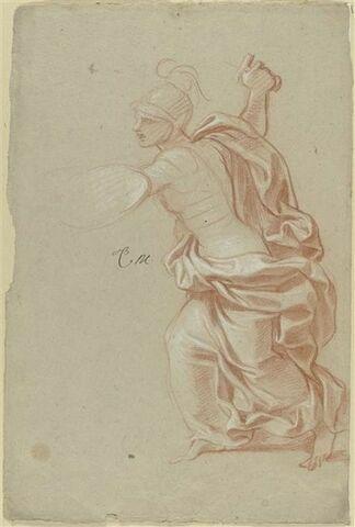 Femme drapée et casquée