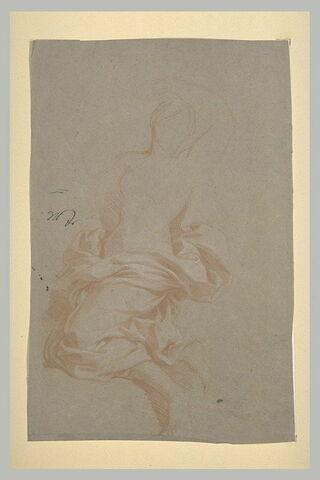 Femme drapée, le bras gauche levé