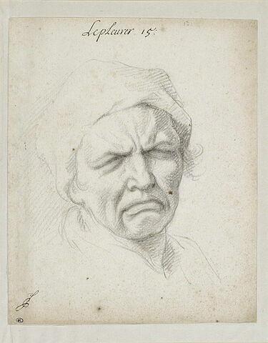 Le Pleurer : tête d'homme