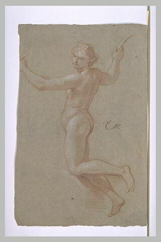 Femme nue, tournée vers la gauche