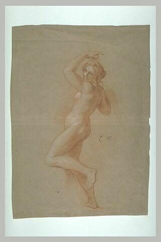 Femme nue, le bras gauche levé