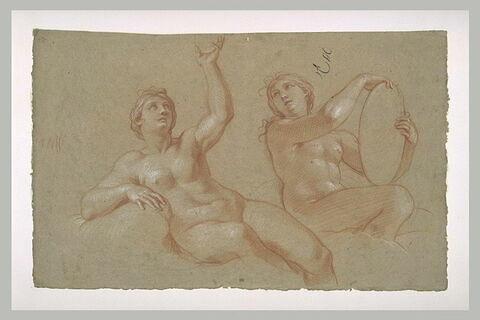 Deux femmes nues, assises