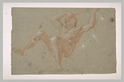 Femme nue, à demi-renversée en arrière