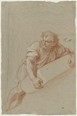 Homme barbu, portant un fardeau