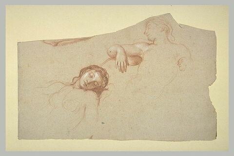 Deux femmes endormies, à mi-corps