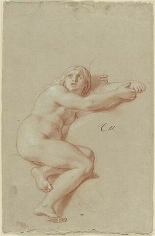Femme nue, assise