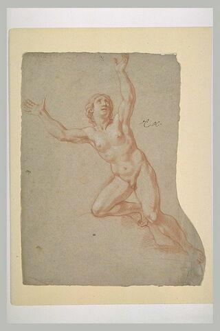 Femme nue, levant les bras