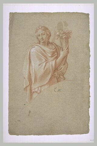 Femme drapée tenant une corne d'abondance