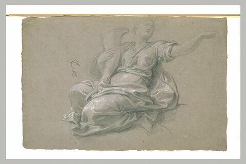 Femme drapée, tenant une corne d'abondance