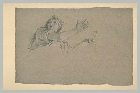 Femme drapée, vue en buste