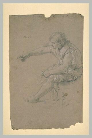 Jeune homme assis, vu de profil