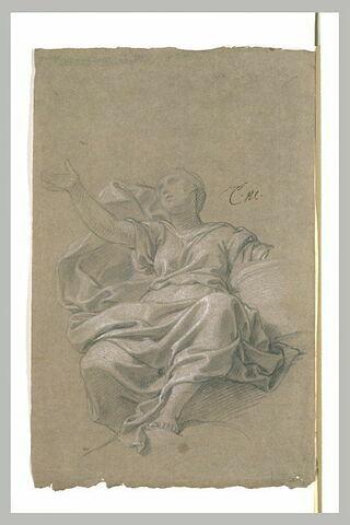 Femme drapée, assise