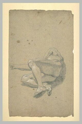 Homme nu, étendu à terre