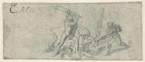 Hercule achevant l'Hydre de Lerne