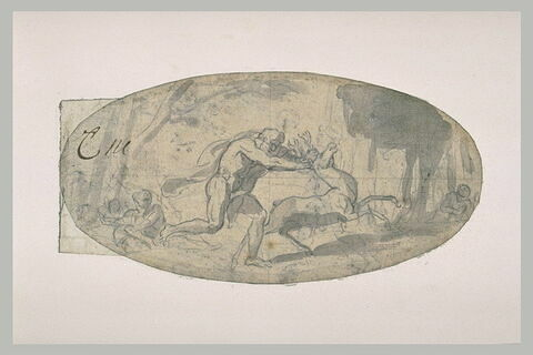 Hercule arrêtant la biche aux cornes d'or
