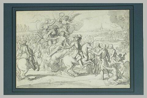 Louis XIV à la tête de son armée est retenu par la Paix