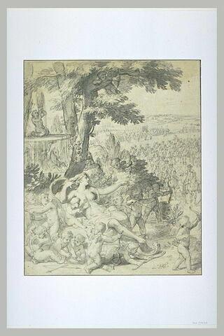 Vénus et les amours attendent le Roi, au passage d'un défilé