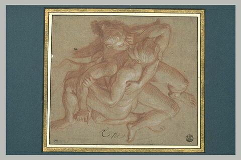 Deux hommes nus, renversés et enlacés
