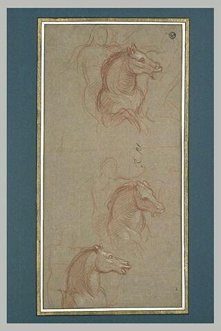 Trois études partielles d'un cavalier