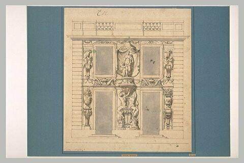 Elévation du pavillon de Vénus, à Marly