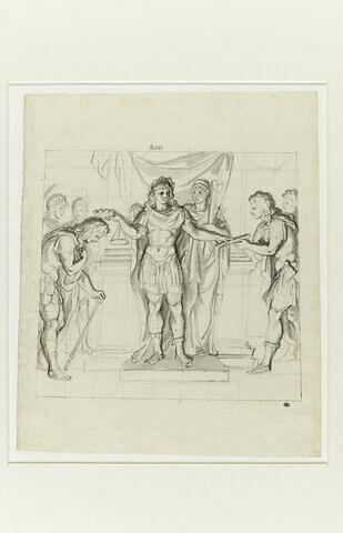 Louis XIV récompensant les chefs de ses armées