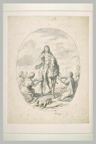 Louis XIV recevant les clefs de villes conquises
