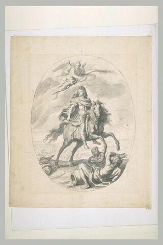 Louis XIV à cheval, couronné par une Victoire